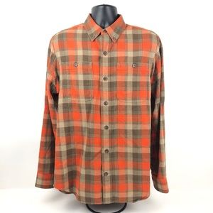 Duluth Trading Men's Button Front Plaid Flannel